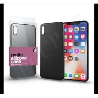 Apple iPhone XS fekete ultravékony szilikon hátlap -  Xprotector