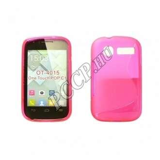 Alcatel 695 Smart First pink vékony szilikon hátlap