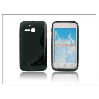Alcatel One Touch M Pop 5020D fekete szilikon hátlap