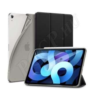 Apple iPad Air 4 (2020) fekete ultravékony szilikon flip tok