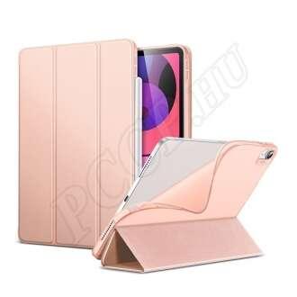 Apple iPad Air 4 (2020) rozéarany ultravékony szilikon flip tok