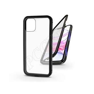 Apple Iphone 11 fekete mágneses 2 részes hátlap előlapi üveggel