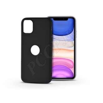 Apple Iphone 11 fekete szilikon hátlap