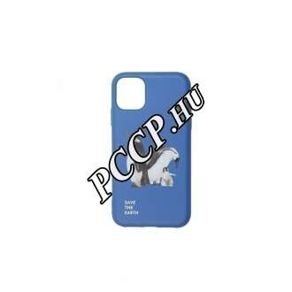 Apple Iphone 11 pingvin mintás kék színű BIO környezetbarát hátlap