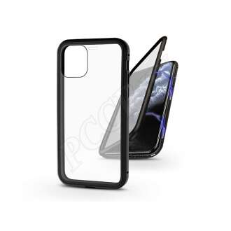 Apple Iphone 11 Pro Max fekete mágneses 2 részes hátlap előlapi üveggel