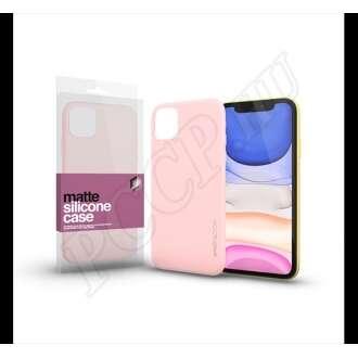 Apple iPhone 11 púderpink ultravékony szilikon hátlap - Xprotector