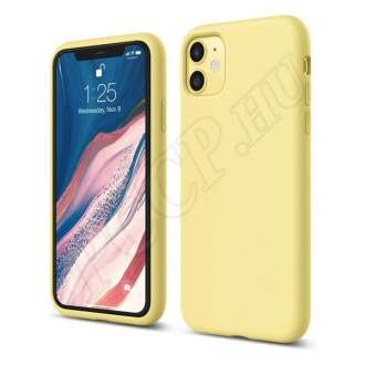 Apple iPhone 11 sárga szilikon hátlap