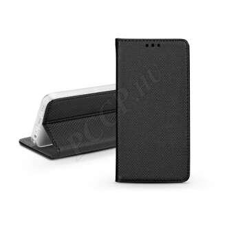 Apple Iphone 12 fekete bőr flip tok