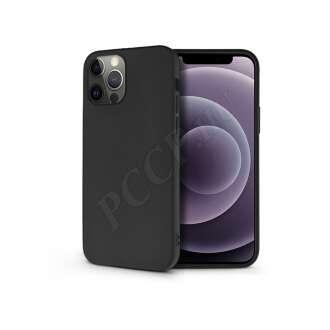 Apple Iphone 12 Pro fekete szilikon hátlap