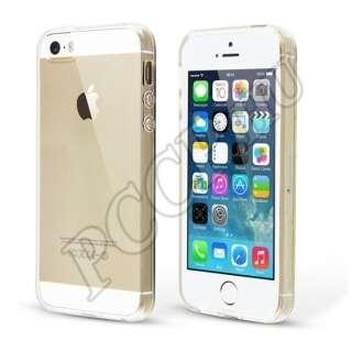 Apple iPhone 5 átlátszó ultravékony szilikon hátlap
