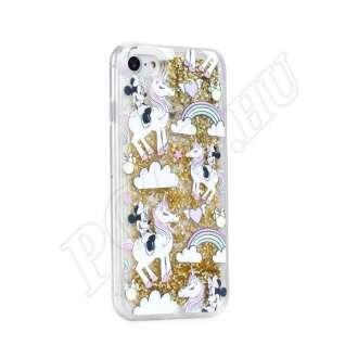 Apple iPhone 5S Minnie egér csodaországban mintás hátlap arany csillámmal