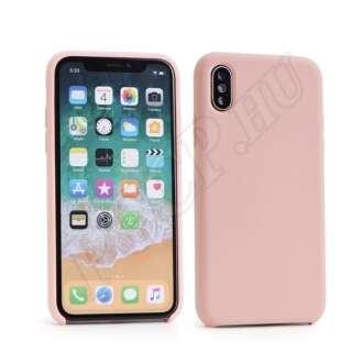 Apple iphone 5S rózsaszín szilikon hátlap