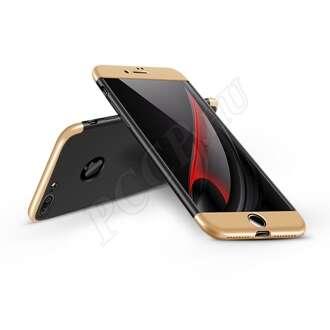 Apple Iphone 7 fekete/arany három részből álló védőtok