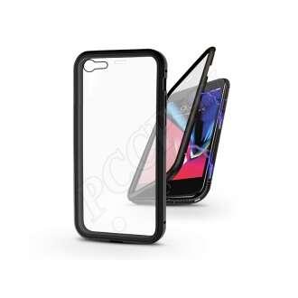 Apple Iphone 7 fekete mágneses 2 részes hátlap előlapi üveggel