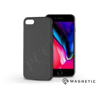 Apple Iphone 7 fekete szilikon hátlap beépített fémlappal