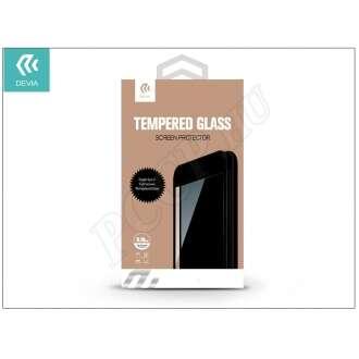 Apple Iphone 7 üveg elő és hátlapi képernyővédó fólia fekete színben