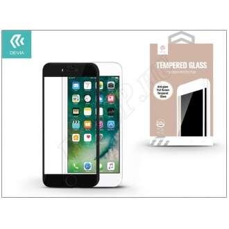 Apple Iphone 8 üveg elő és hátlapi képernyővédő fólia fekete színben
