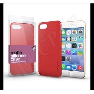 Apple iPhone 7 korallpiros ultravékony szilikon hátlap