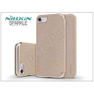 Apple Iphone 7 arany oldalra nyíló flip tok