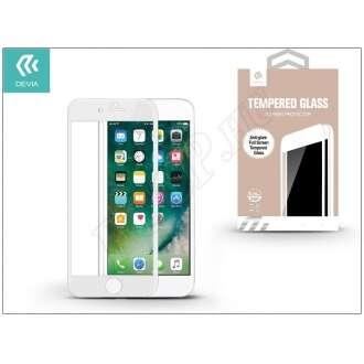 Apple Iphone 7 Plus üveg elő és hátlapi képernyővédő fólia fehér színben