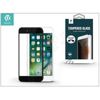 Apple Iphone 7 Plus üveg elő és hátlapi képernyővédő fólia fekete színben