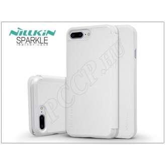 Apple Iphone 7 Plus fehér oldalra nyíló flip tok