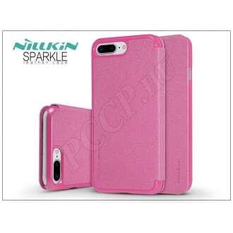 Apple Iphone 7 Plus pink oldalra nyíló flip tok