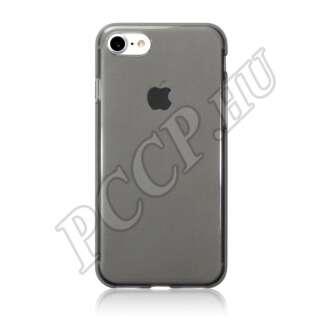 Apple iPhone 8 fekete-átlátszó ultravékony szilikon hátlap