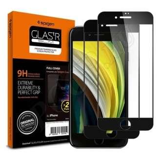 Apple iPhone 8 fekete kijelzővédő fólia (2db)