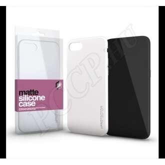 Apple iPhone 8 opál fehér ultravékony szilikon hátlap