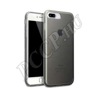 Apple iPhone 8 Plus fekete-átlátszó ultravékony szilikon hátlap