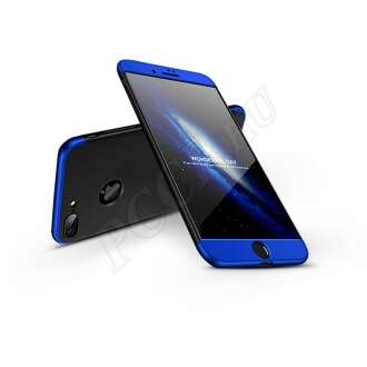 Apple Iphone 8 Plus fekete/kék három részből álló védőtok
