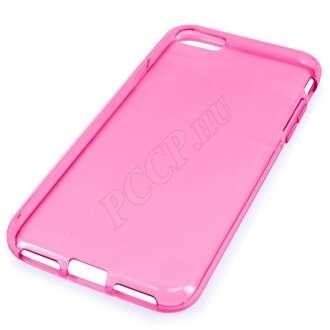 Apple Iphone 8 rózsaszín vékony szilikon hátlap