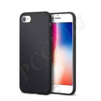 Apple iPhone SE (2020) fekete szilikon hátlap