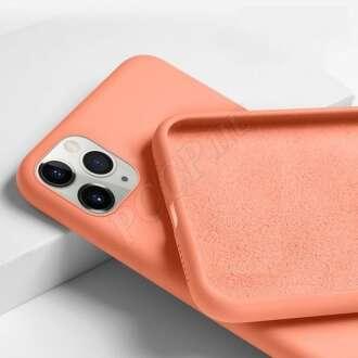 Apple Iphone SE (2020) narancs szilikon hátlap