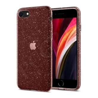 Apple iPhone SE(2020) átlátszó/rózsaszín csillámos hátlap