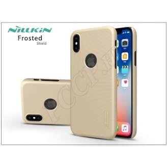 Apple Iphone X arany hátlap kijelzővédő fóliával