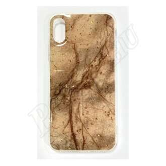 Apple iPhone X barna márványos szilikon hátlap