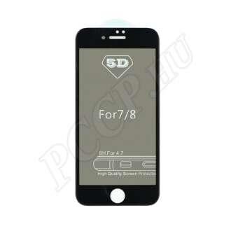 Apple iPhone X hajlított üveg kijelzővédő fólia fekete színben