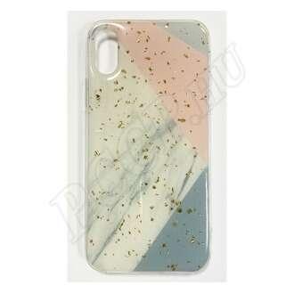 Apple iPhone X pasztell márványos szilikon hátlap