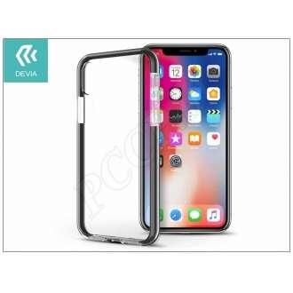 Apple Iphone X fekete/átlátszó szilikon hátlap