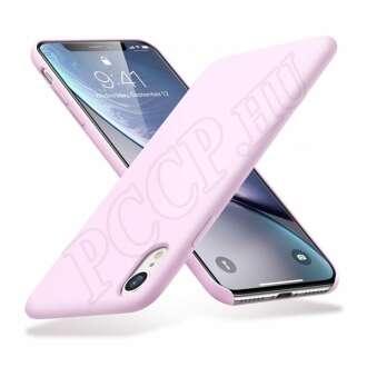 Apple iPhone XR pink szilikon hátlap