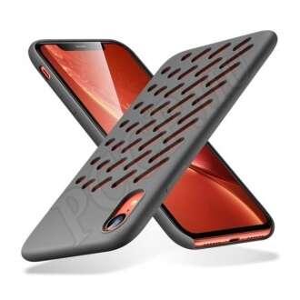 Apple iPhone XR szürke szilikon hátlap