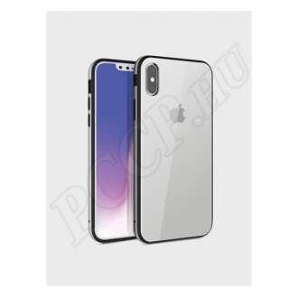 Apple iPhone Xs ezüst szilikon hátlap