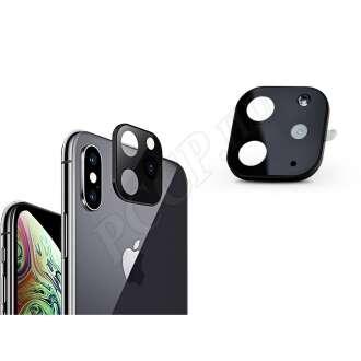 Apple Iphone XS fekete (hátsó kamera) üveg kijelzővédő fólia