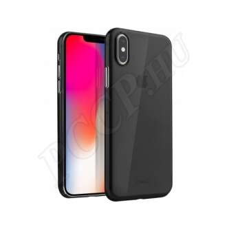 Apple iPhone Xs fekete szilikon hátlap