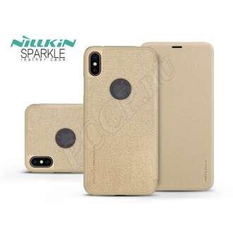 Apple Iphone XS Max arany oldalra nyíló flip tok