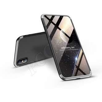 Apple Iphone Xs Max fekete/ezüst három részből álló védőtok