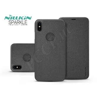 Apple Iphone Xs Max fekete oldalra nyíló flip tok
