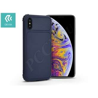 Apple Iphone Xs Max kék szilikon hátlap